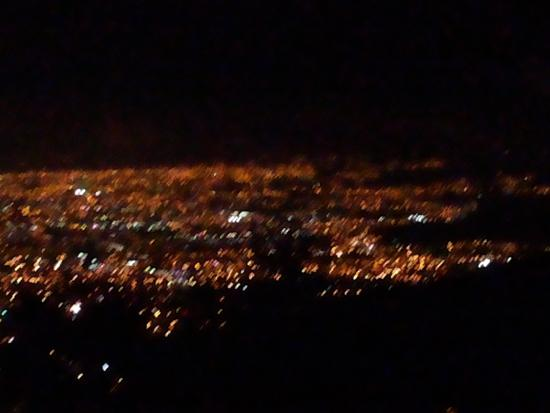 Mirador Tiquicia: vista en noche despejada de noviembre