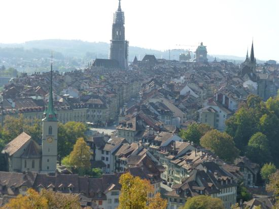 Hotel Alpenblick: view of the old town from atop Rosengarten