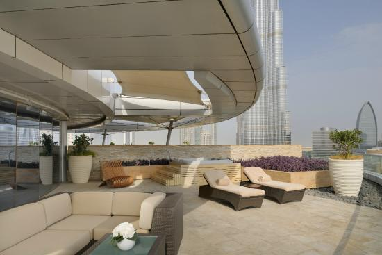 Spa suite terrace the address downtown dubai picture of for The terrace address