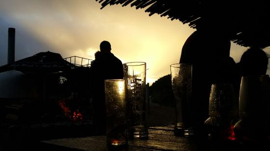 Afrovibe Adventure Lodge: Sunset in Sedgefield - at the bar !!!