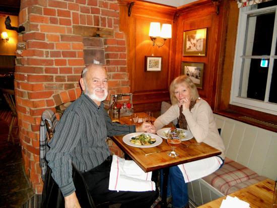 The Inn at Cranborne: Enjoying our meal