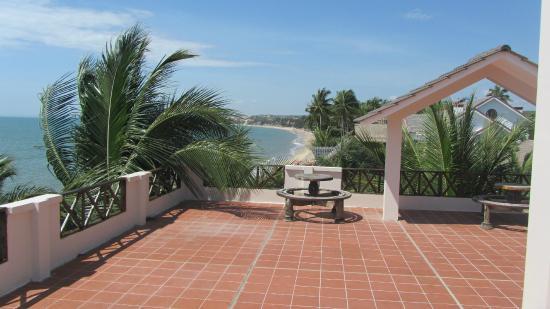 Mui Ne Paradise Beach Resort : terrace view