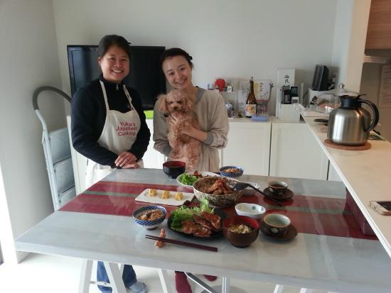 YUCa's Japanese Cooking: Yuka, Mario our supervisor and a very keen student (me)!