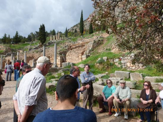Chat Tours - Day Tours : Entering the Temple of Apollo Site