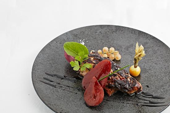 L'Auberge de la Marine : Foie gras poêlé pain d'épices et poire au Banyuls