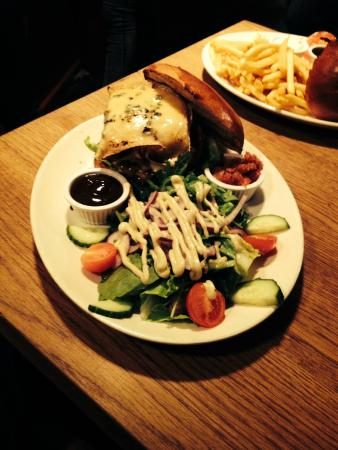 The Burger Joint : Wild Boar Burger with Green Salad
