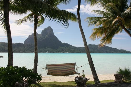 Eden Beach Hotel Bora Bora: Ausblick von kleinem Pool