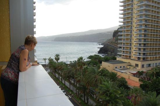 Palmeras Playa: Utsikt från balkongen på 7 våningen.