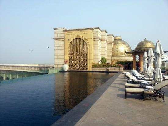 Roof Swimming Pool Picture Of The Leela Palace New Delhi New Delhi Tripadvisor