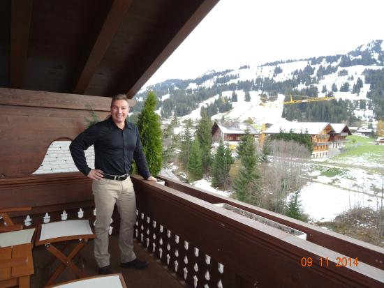 ERMITAGE Wellness- & Spa-Hotel: BALCONY VIEW FROM SENIOR SUITE TYPE SAANEN NUMBER 510, AS SEEN IN NOVEMBER 2014.