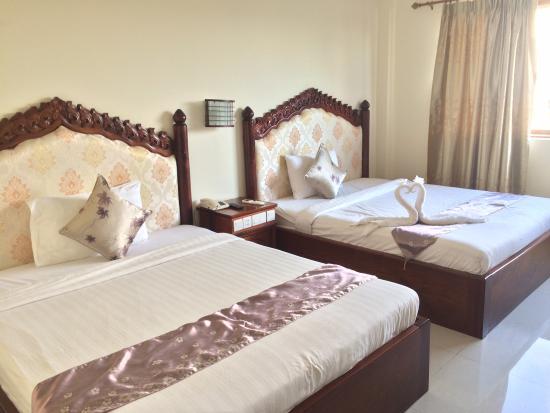 VY CHHE Hotel: La chambre pour 4 personnes que nous avons obtenu