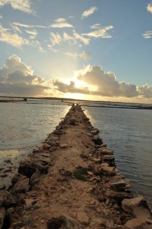 Salt Cay: Sunrise over the Salt Ponds