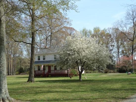 Shady Acres Bed and Breakfast: Recite your vows amid the perfume of crabapple blossoms or beside the three tier fountain
