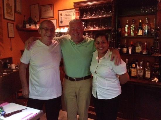 Chez Madeleine: samen met de uitbaters van dit restaurant