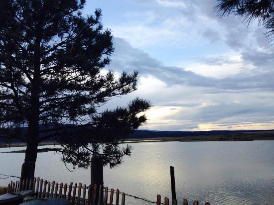 Las Vegas, Nuevo Mexico: Sunset at Storrie Lake