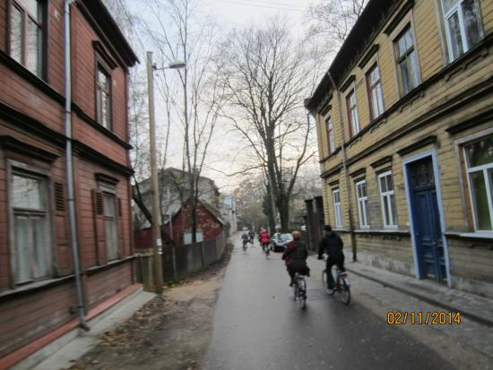Riga Bike Tours & Rent: Bicycle tour in Riga (sorry for low quality, picture was taken while riding...)