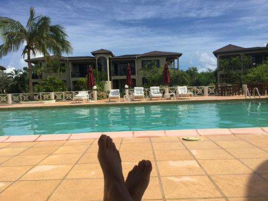 sitting around the pool - picture of paradise cove resort, west