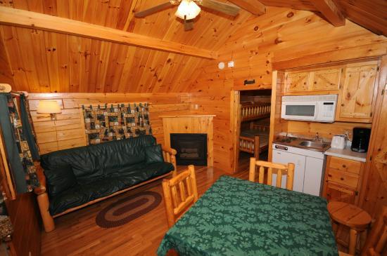 Lena KOA: Inside Deluxe Cabin