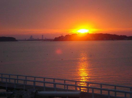 Sea Dog Brew Pub: Sea Dog Sunset from the deck...Wow!