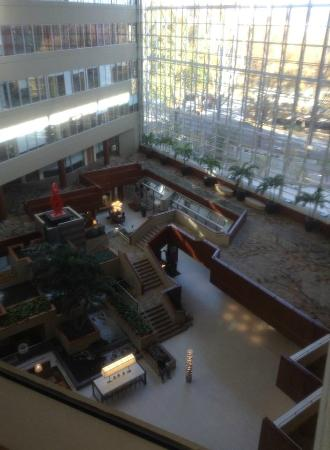 Hyatt Regency Greenville: View of the lobby from the lift