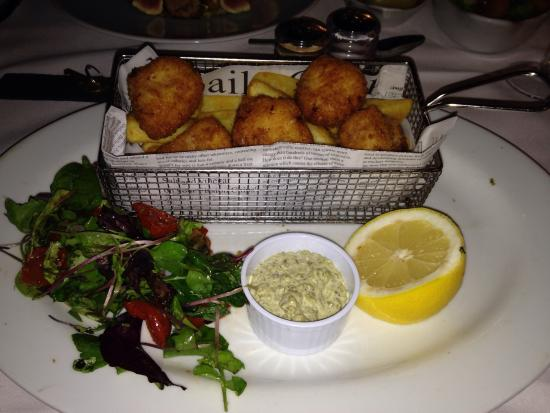 The Old Rectory Country Hotel and Golf Club: Monkfish scampi