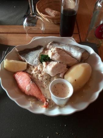 La Criee: Choucroute de la mer avec son poisson frais
