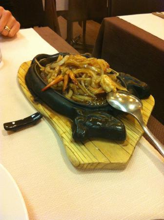 Gamberi alla piastra con cipolle foto di chen lon for Gamberi alla piastra cinesi