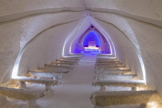 Arctic SnowHotel & Glass Igloos: Ice chapel