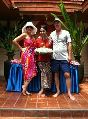 Santhiya Tree Koh Chang Resort: Our friendly greeting with Winnie