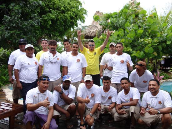 Front:  Marcus, Milton, Gary, Oscar, Osvaldo, Joe; back row, Ernest, Hilberto, Andy, Francis, Ke