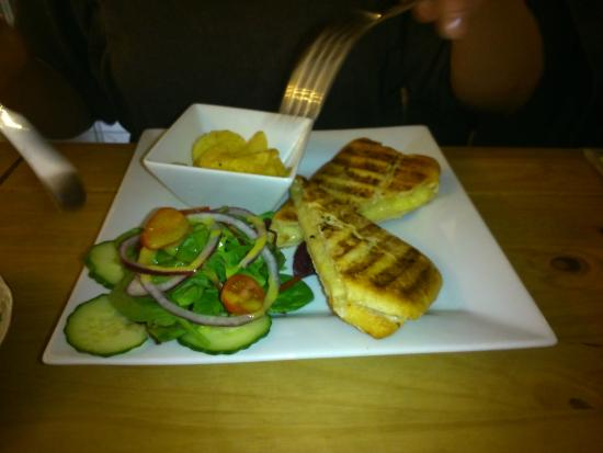 Lavender Tea Rooms: Panini with Salad and Crisps