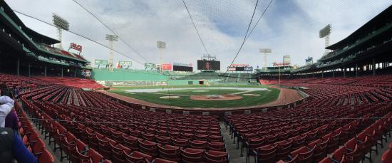 Fenway Park Panoramic View From Behind Home Plate
