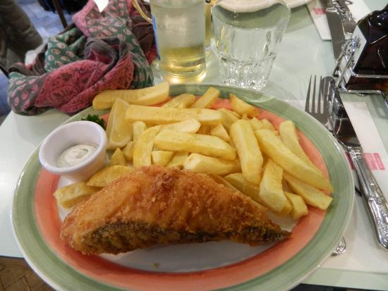 Fish chips picture of poppies fish and chips camden for Eds fish and chips