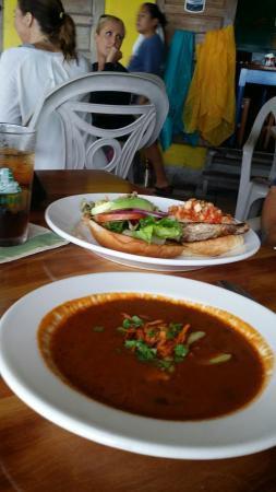 Wild Mango's: Soup on a rainy day and keep chicken burger