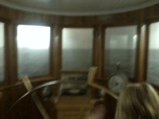 Sleeping Bear Point Coast Guard Station Maritime Museum: Mast simulation room