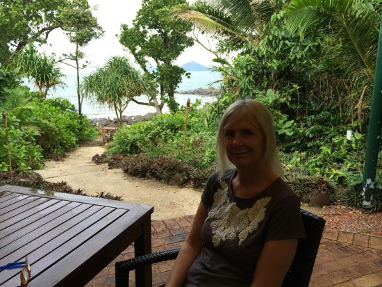 in front of restraunt overlooking dunk island picture of. Black Bedroom Furniture Sets. Home Design Ideas