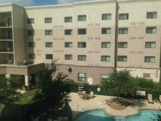 Residence Inn San Antonio Six Flags® at The RIM: View directly out bedroom window, no privacy