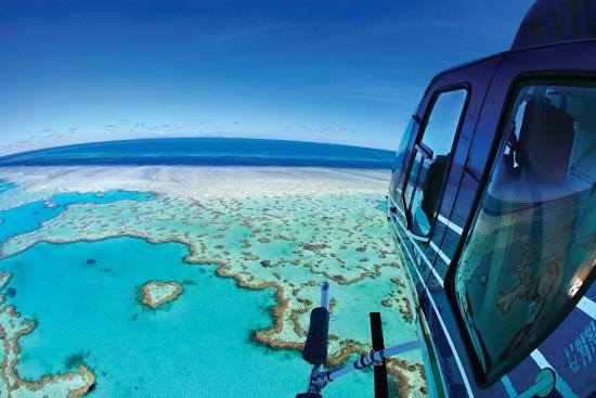 Hamilton Island, Australia: Helicopter over Heart Reef