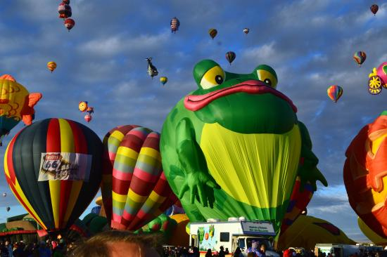Balloon Fiesta Park : Frog Balloon at 2014 festival