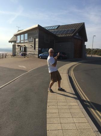 Exmouth Beach : Alongside Exmouth RNLI boat shed