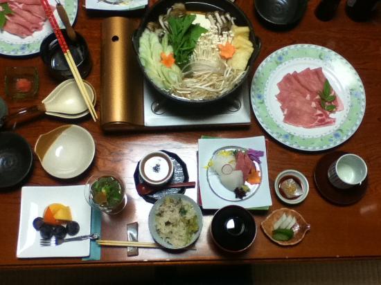 Takimikan: 夕食メニュー