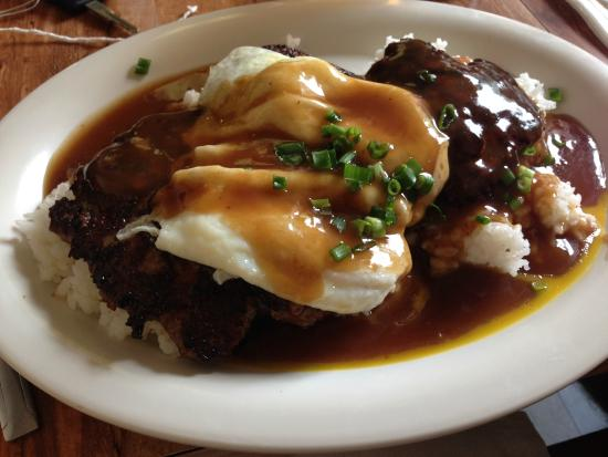 Hawaiian Style Cafe: Portuguese sausage, eggs, rice and gravy