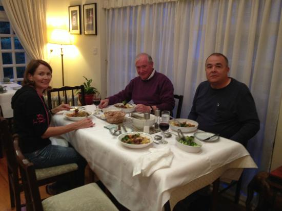 St. Jude's Bed and Breakfast: Enjoying the meal we made in Sinead's cooking class