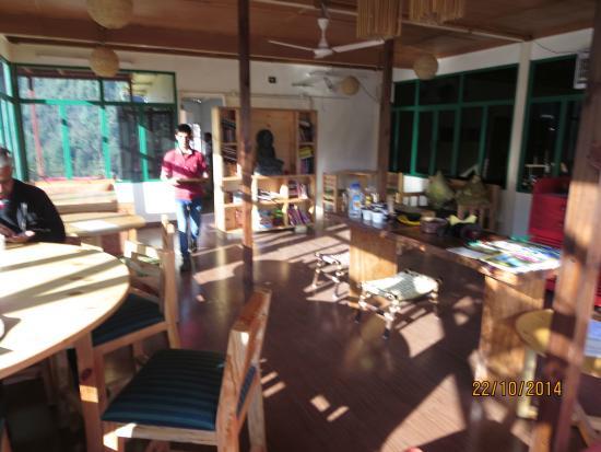 Seegreen Lodges : Inside view of dining hall-cum-restaurant