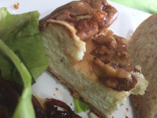 Restaurante El Garaje: Savory Danish Blue Cheescake...YUM!!!