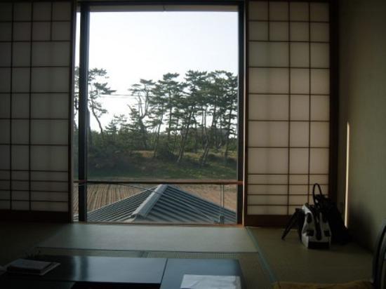 Umashiyado Totoya: 2階 和室10畳からの眺め