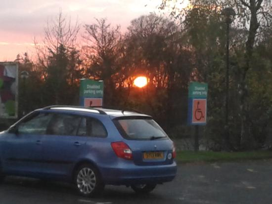 Days Inn Gretna Green M74: Lovely sunset