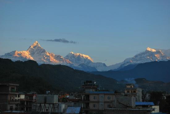 New Pokhara Lodge: View from rooftop
