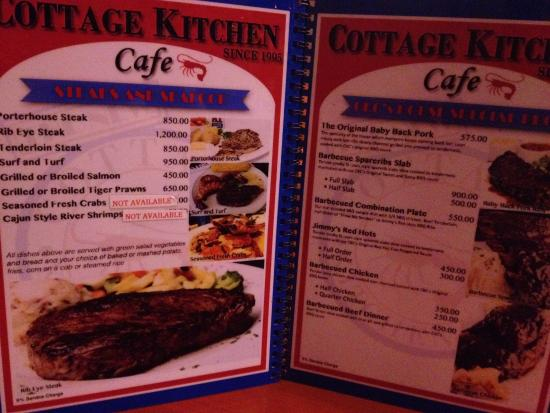 cottage kitchen cafe angeles city menu2 picture of cottage kitchen cafe angeles city 8412