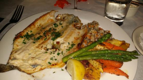 On the Veranda Restaurant : Trout with veges and couscous